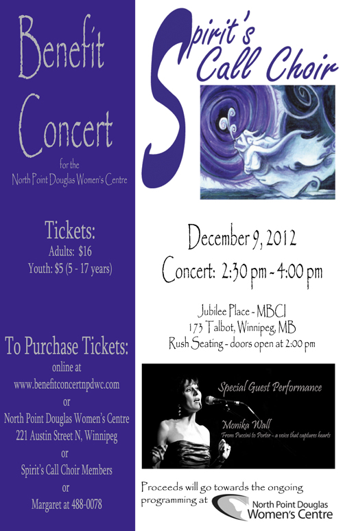 Spirit's Call Choir with guest performance by Monika Wall - December 9, 2012