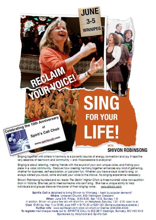 Sing for your life! with Shivon Robinsong
